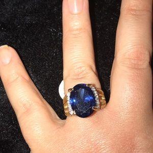 New gold stone fashion gem ring